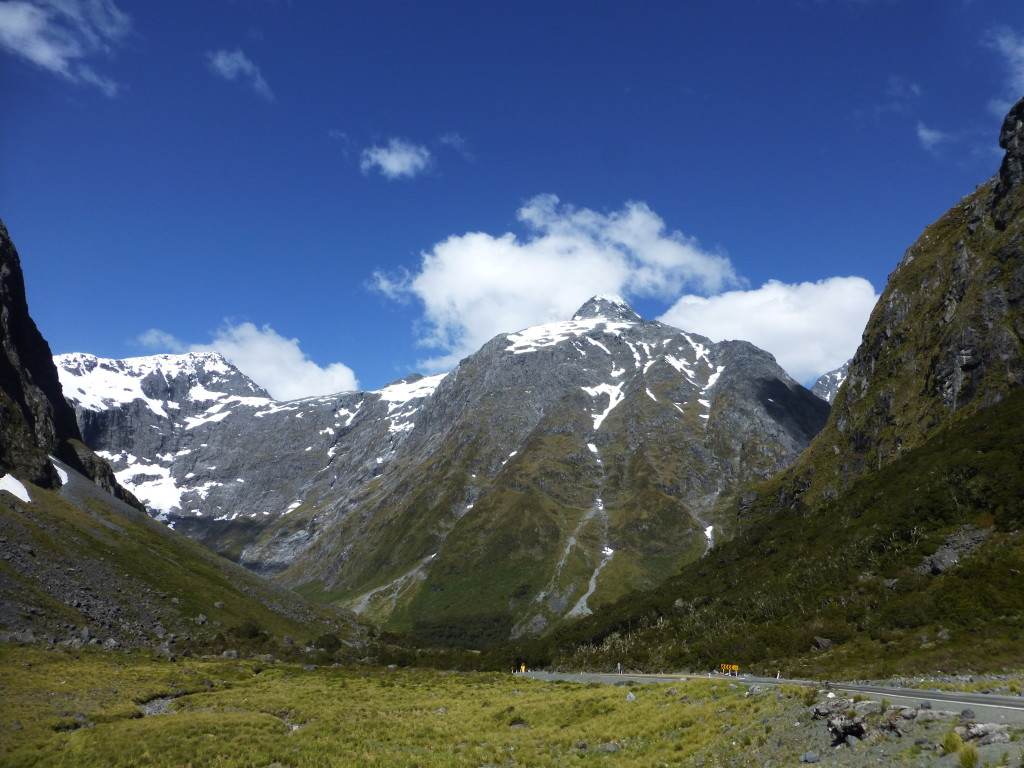 The Milford Road Hits the Mountains Dead On