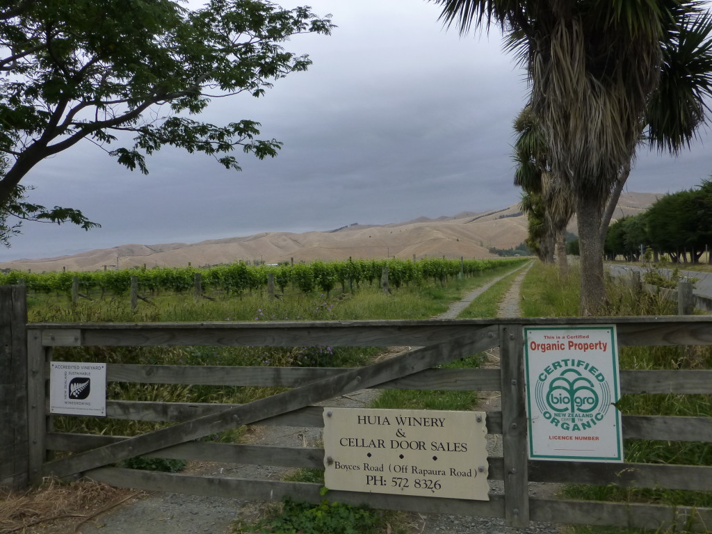 Organic Winery Gate