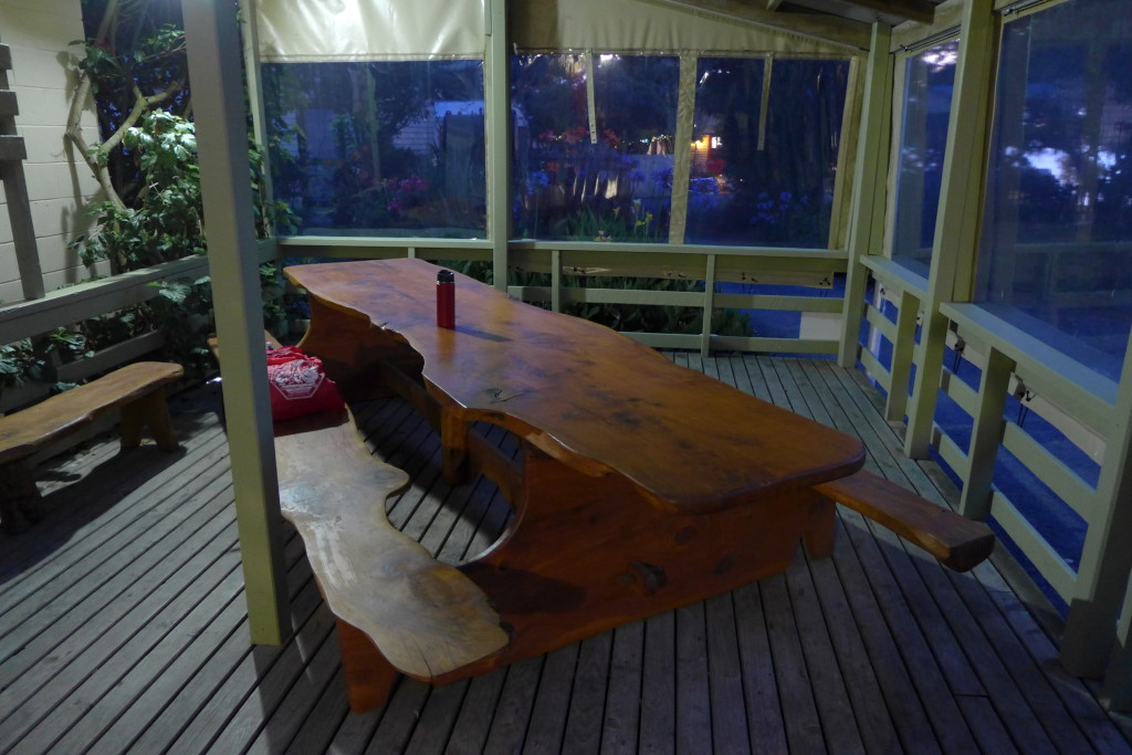 Kauri Slab Picnic Table