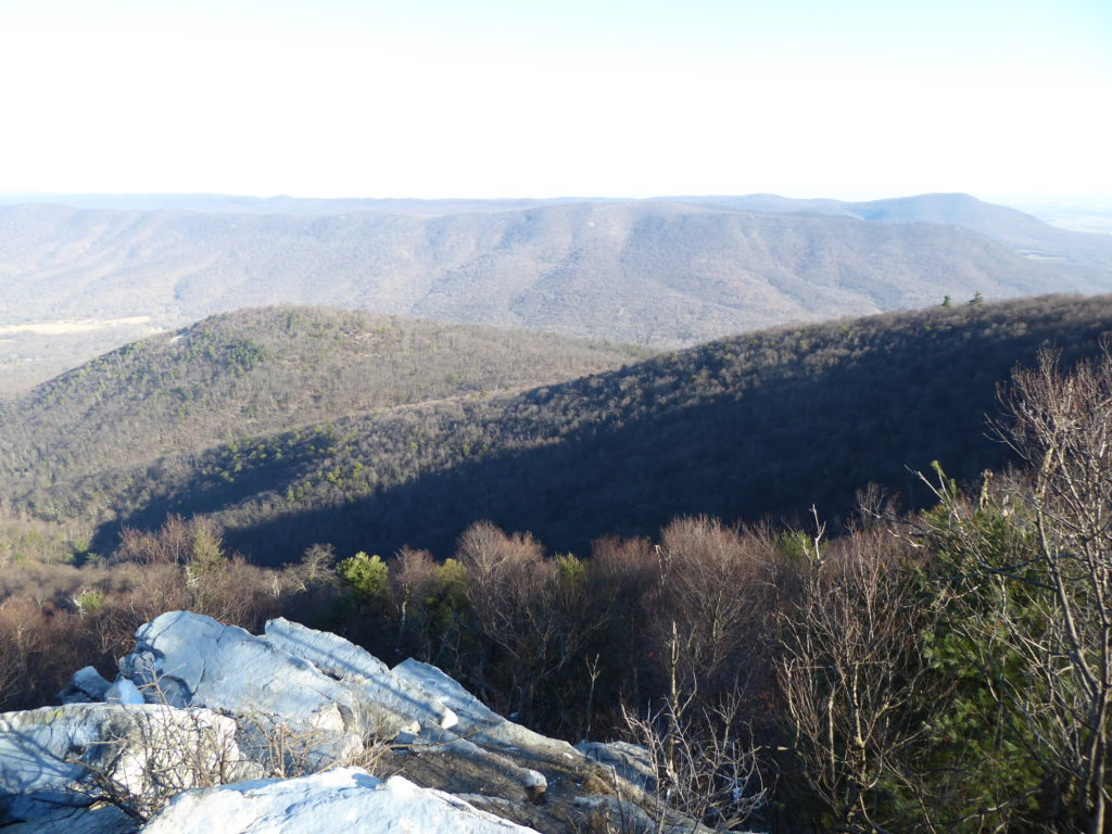 Looking Down at Hogback Mt