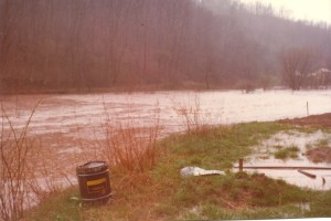 Bunnells Run in Flood