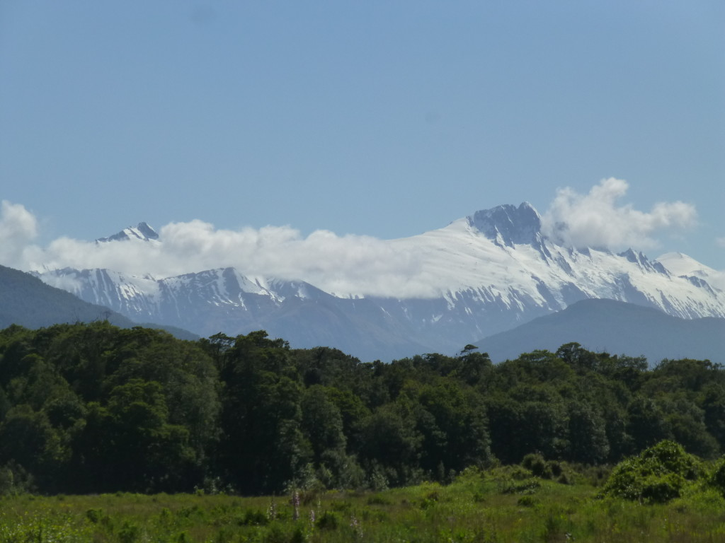 Clouds Hanging On the Southern Alps at Haast Pass
