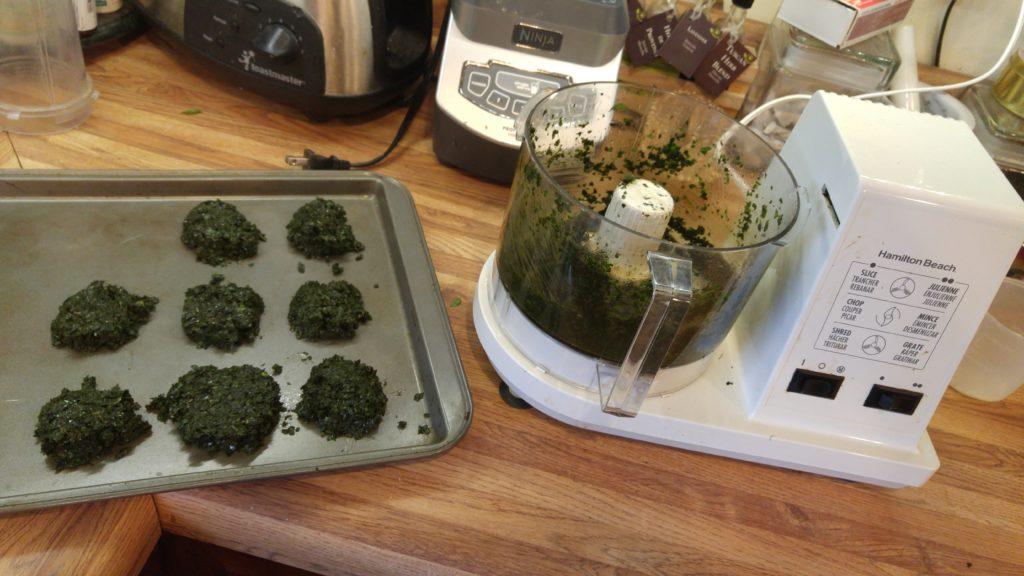Processing Basil Cookies
