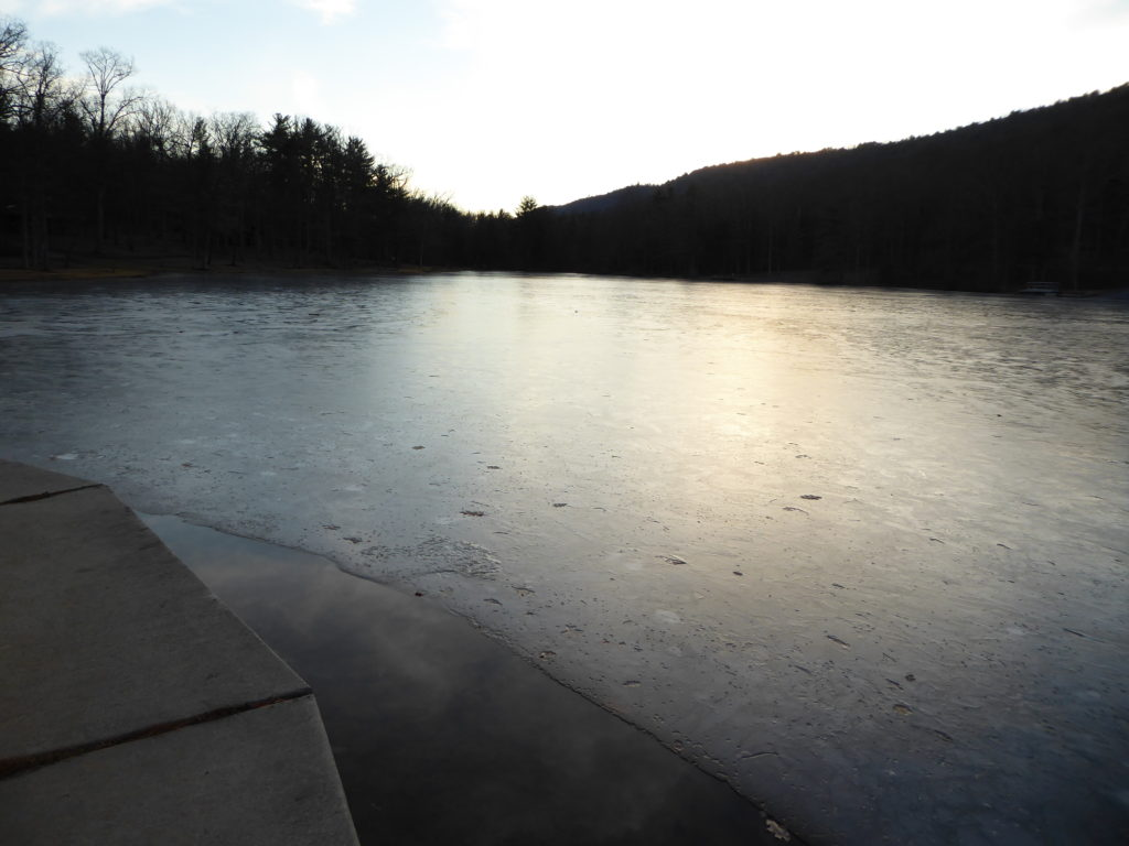 Setting Sun on Ice