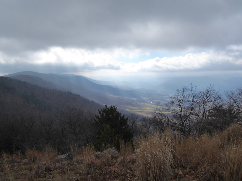 Looking Southwest from Pikes Knob